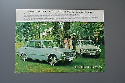 Sales Brochure: Isuzu Bellett Sports Saloon 1471/1500cc