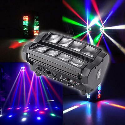 8x10W RGBW 4in1 LED Spider Beam Moving Head Stage Lighting DJ Party Disco Light