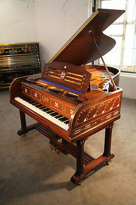Inlaid, Lipp Grand Piano with an Arts and Crafts Style Case