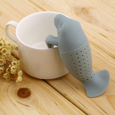 Silicone Manatee Diffuser Infuser Loose Tea Leaf Strainer Herbal Spice Filter ZY