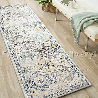 SULIS FLORAL PANEL COLOURFUL TRADITIONAL RUG RUNNER (L) 80x400cm *FREE DELIVERY*