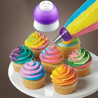 Icing Piping Decorating Nozzle Converter Adapter Fondant Cake Baking Tool ZY