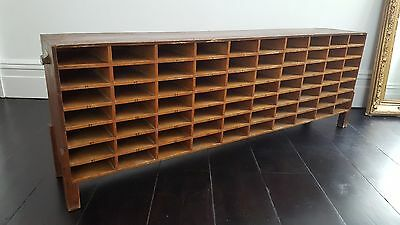 Vintage 70 pigeon-holed cabinet - great ex-office industrial piece