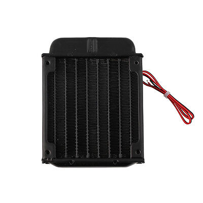 Aluminum 80mm Water Cooling cooled Row Heat Exchanger Radiator+Fan for CPU PC ZY