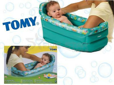 Tomy Inflatable Baby Child Bath Soft Portable Kids Bath Tub Ideal For Travel