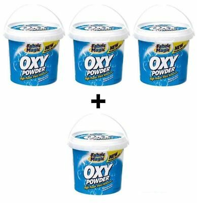 4 x OXY POWDER 500g HIGH STAIN REMOVER WASH UP CLEAN LAUNDRY HOME