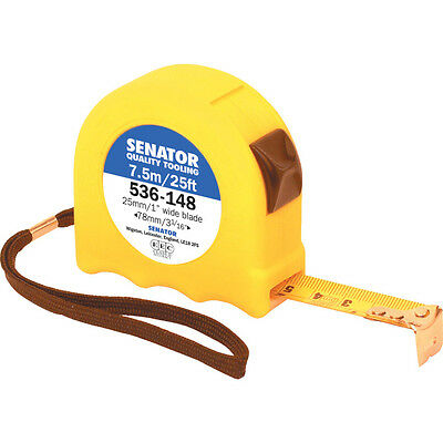 Senator 7.5M/25' Hi-Vis Locking Tape - Yellow Case
