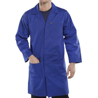 Beeswift Click Original Workwear Pcwc Polycotton Warehouse Coat Royal Blue 50""