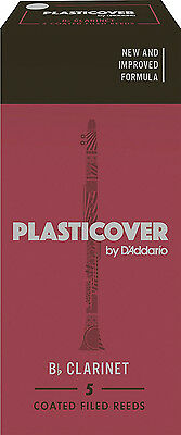 D'Addario Rico RRP05BCL150 Plasticover 1.5 Strength Reeds, Bb Clarinet Pack of 5