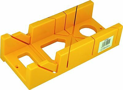 "New 12"" Miter Box Block Cutter 45-90-60 Degree Fixed Angles 8"" Ruled Edge Yellow"