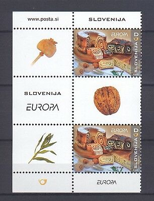 SLOVENIA, EUROPA CEPT 2005, GASTRONOMY CORNER BLOCK with LABELS, MNH