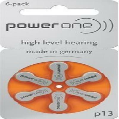 Powerone Hearing Aid Batteries Size 13 10 Packs Of 6 Cells Power One New