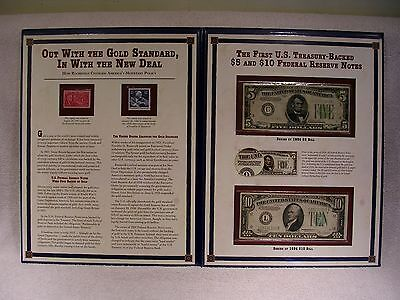 First U.S. Treasury Backed $5 & $10 Federal Reserve Notes  $5 1934 -  $10 1934 C