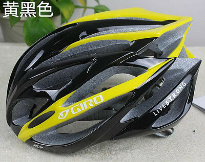 Hot yellow giro helmet bicycle road live strong unisex fit 56-62cm