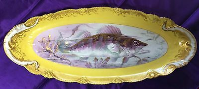 Seven piece Theodore Haviland Limoges Porcelain Fish Platter and Plates