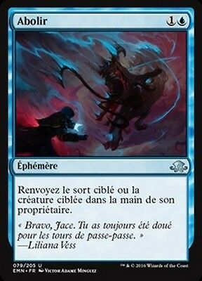 MTG Magic EMN - (x4) Unsubstantiate/Abolir, French/VF