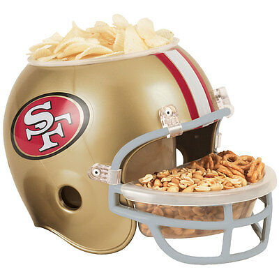 NEW NFL Snack Helmet San Francisco 49ers Serving Bowl Tailgating Football Party