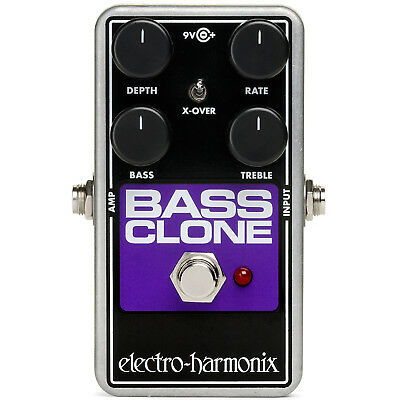 New Electro-Harmonix BASS CLONE Bass Chorus Guitar Effects Pedal + Free Shipping