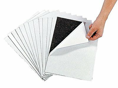 """Awesome Adhesive Magnetic Sheets 12 Pack Peel & Stick + Flexible 8 1/2"""" X 11""""."""