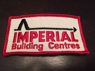 """Vintage Imperial Building Centres Embroidered Sew On Patch 3 5/8"""" Canada"""
