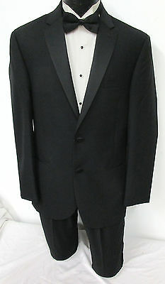 New with Tags Black Ralph Lauren Two Button Satin Lapel Tuxedo Jacket Mason 56R