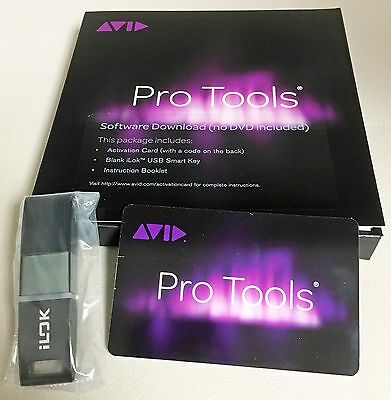 AVID Pro Tools 12 Full Version Perpetual License Activation w/ Brand New iLok 2