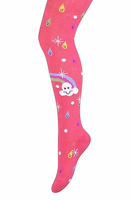 Girls Tights Patterned Cotton Rich High Quality Rainbow Age 2, 3, 4, 5 Years