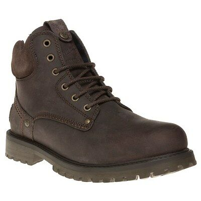 New Mens Wrangler Brown Yuma Leather Boots Lace Up