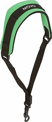 Movo MS-20R-G Neoprene Instrument Strap for Saxophones Clarinets Green/Short