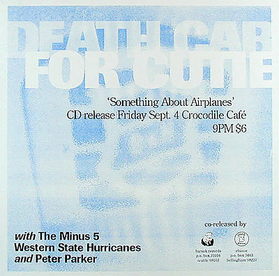 Death Cab for Cutie Debut Something About Airplanes 1998 CD Release Show Poster