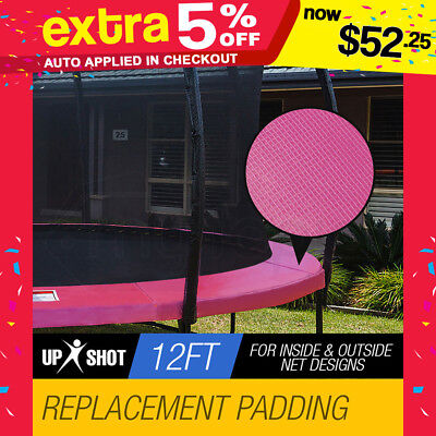 NEW UP Shot 12ft Pink Replacement Trampoline Pad-Spring Reinforced Round Outdoor