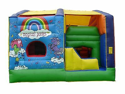 MASSIVE JUMPING CASTLE SALE - 5x5.5m Falling Floor *Commercial USED