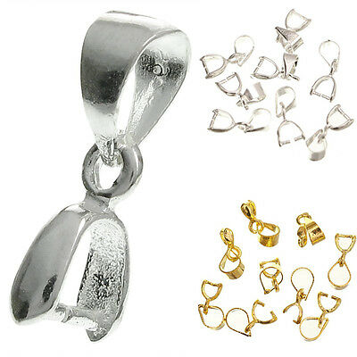 Wholesale Gold&Silver Plated Pinch Bails Pendants Connectors Jewelry Findings