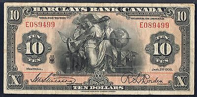 Canada $10 Dollars 1395 s951a * PMG VF20 * . . Banknote currency Montreal Quebec