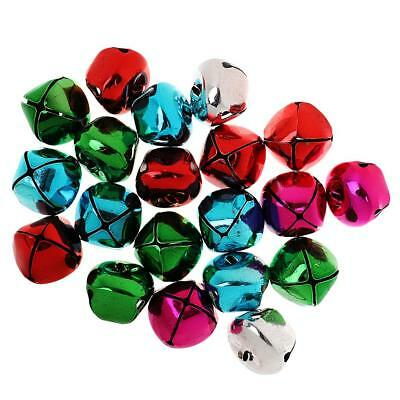 20pcs 35mm Colored Cross Xmas Jingle Bell Christmas Decoration Pendant Craft