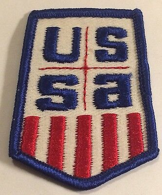 USSA United States Ski Association Skiing Patch Souvenir Travel Vintage