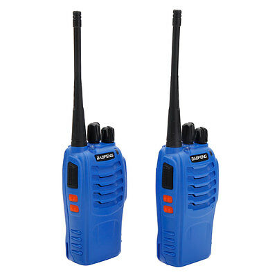 2 * Blue Baofeng BF-888s UHF 400-470Mhz Ricetrasmittente Ham Radioline
