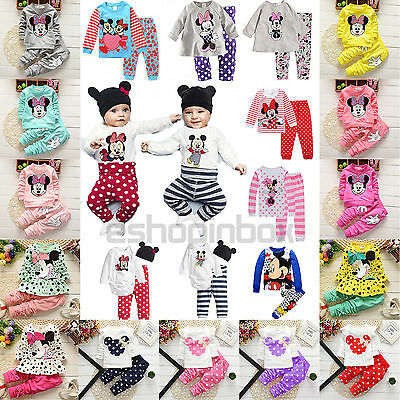Minnie Mouse Baby Boys Clothes Outfit Hoodie Jumpers Top Leggings Trousers 0-8Y