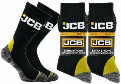 JCB 6 PAIR Men's Heavy Duty Extra Strong Professional Cushioned Work Socks