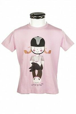Kinder T-Shirt Sweetheart Little Sister rosa 122/128