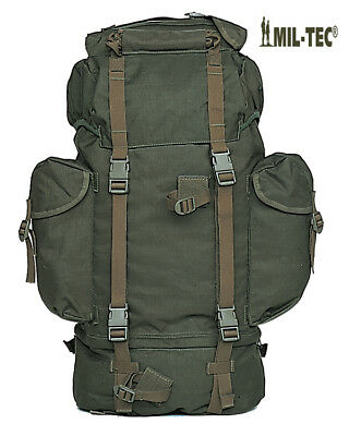 Army Combat Military Travel Rucksack Camping Backpack Surplus Green 65L New