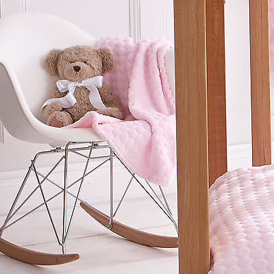 New Clair De Lune Pink Marshmallow Pram / Crib / Moses Basket Soft Baby Blanket