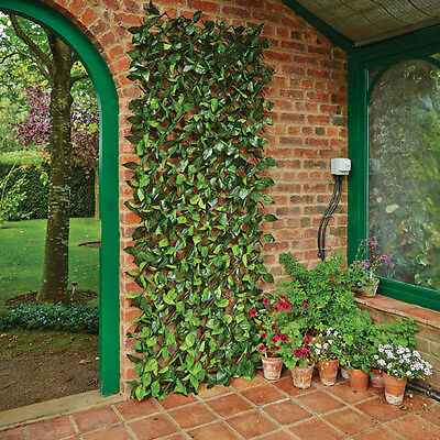 Gardman Expanding Artificial Birch Leaf Trellis 30cm x 180cm Screening