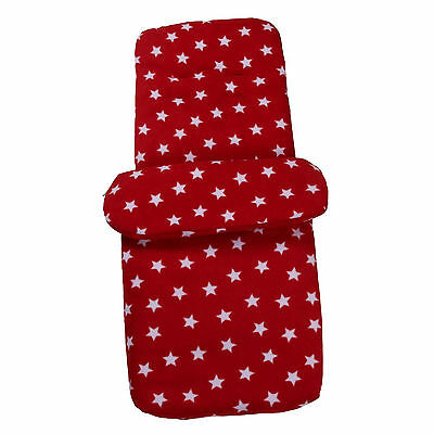 New Clair De Lune Red Star Pushchair Stroller Buggy Footmuff Baby Cosytoes