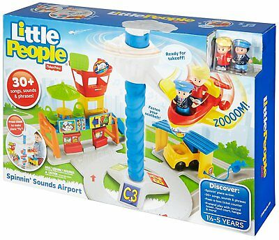 Fisher Price Little People Spinnin Sounds Airport Children's Toddler Playset