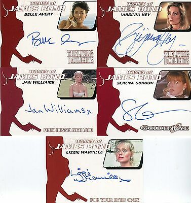 JAMES BOND ARCHIVES 2014 Women of James Bond Autograph Card LOT 5 Diff Cards
