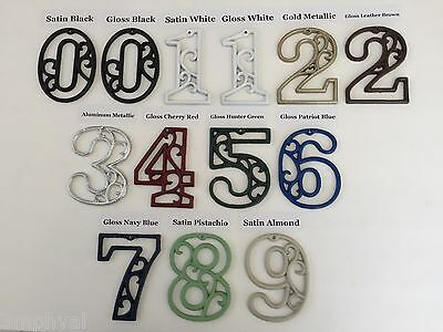 "Victorian Cast Iron Hand-Painted Scroll NUMBERS ""0-9"" for Address Street House"