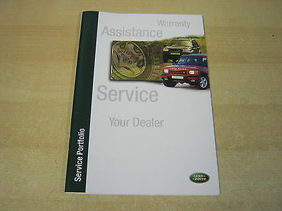 Range Rover Landrover  Service Book New Old Stock 2001-2007