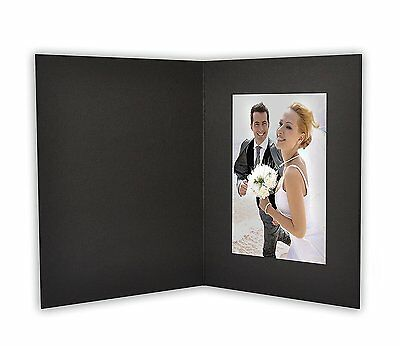 ANGEL PRINT Cardboard Photo Folder For a 4x6 Photo (Pack of 50) GS007 Black
