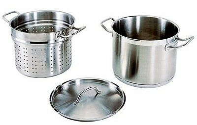 Update International (SPSA-12) 12 Qt Induction Ready Stainless Steel Pasta Cooke